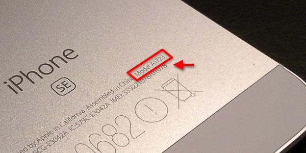 iPhone - Android - Telefon - Modellnummer - Se baksida