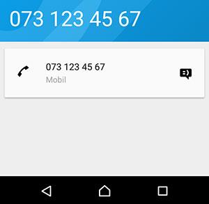 Android - Mitt telefonnummer