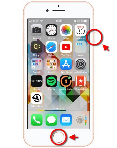 Print Screen - Skärmdump - Skärmbild - iPhone