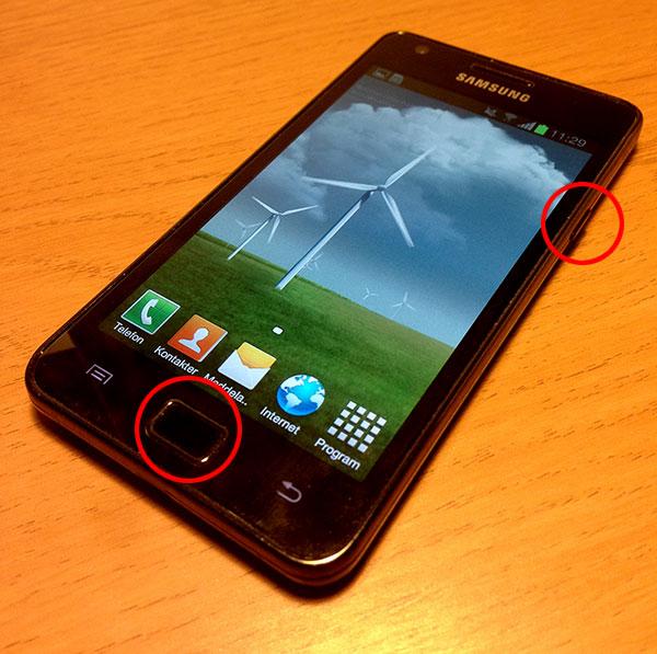 Skärmdump Samsung