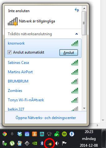 Windows - Anslut till trådlöst nätverk 2