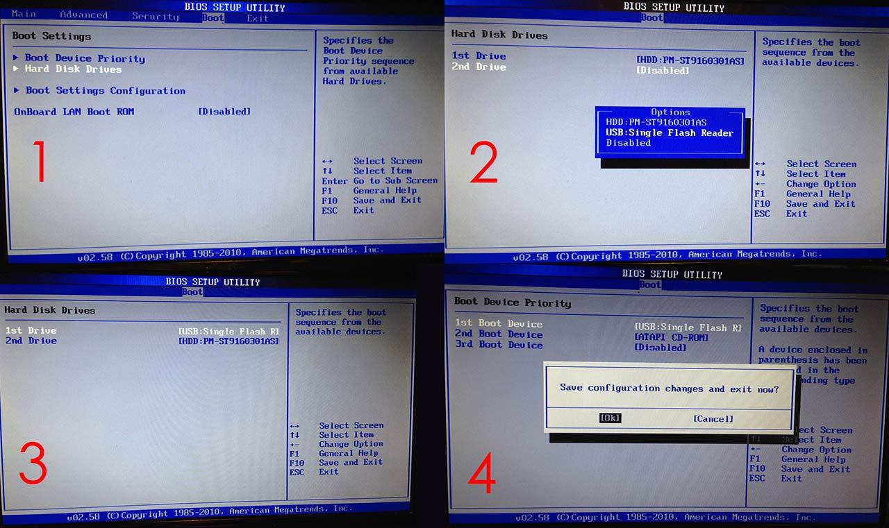 BIOS - Ändra ordning