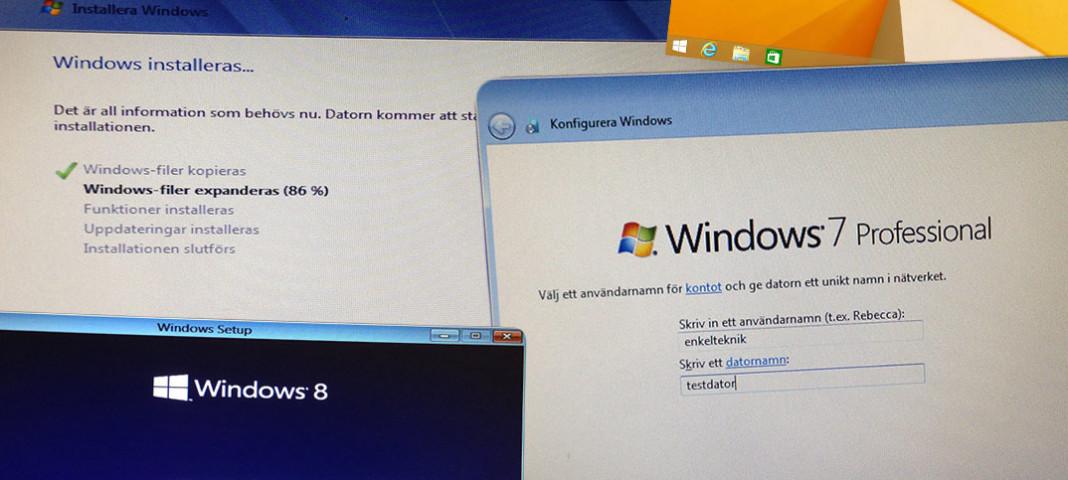 Titelbild -Installera om Windows 7 eller 8