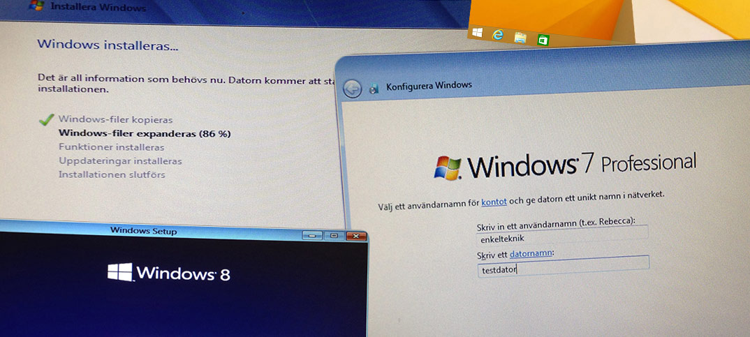 Titelbild -Installera om Windows 7 eller 8