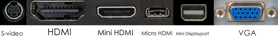 S-Video-VGA (MiniDP)
