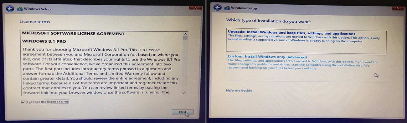 Win 8 - Installation 3