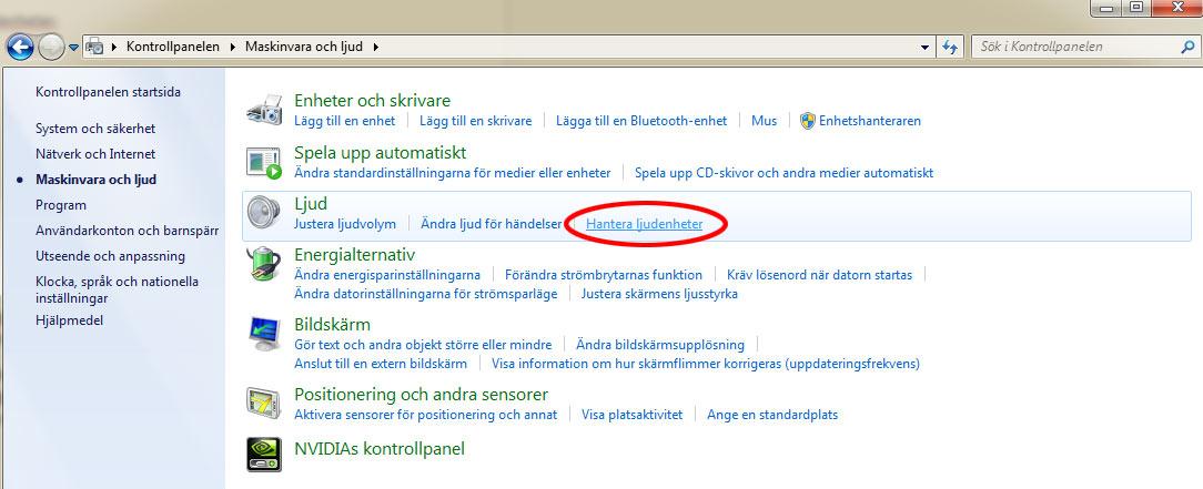 TV-Dator - Ljud - Windows 1