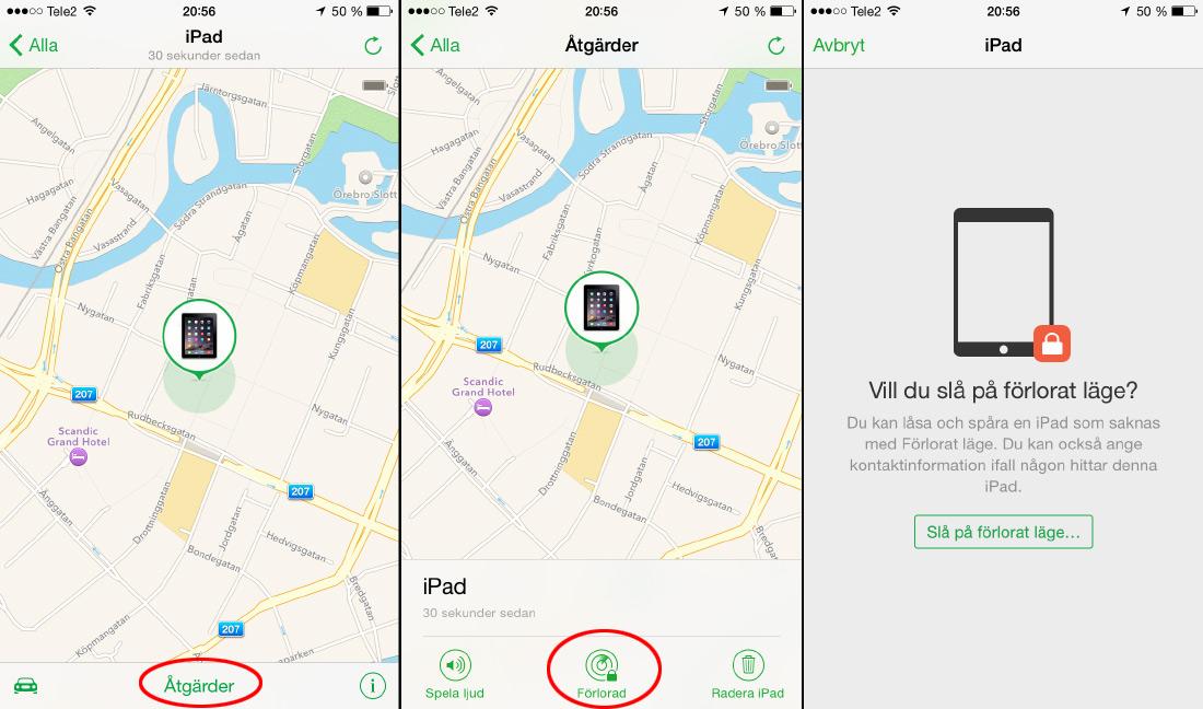 Hitta min iPhone - App 2