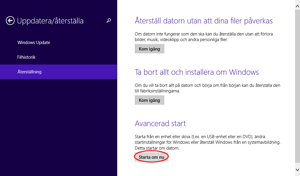 Windows 8 - Felsäkert läge 4