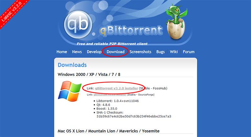 Ladda ner torrents - Hämta qBittorrent 1
