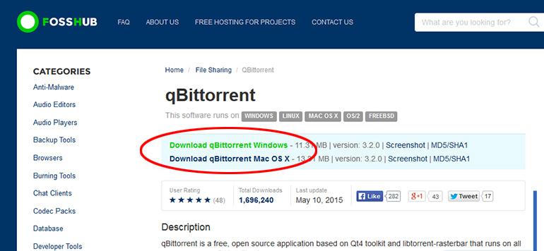 Ladda ner torrents - Hämta qBittorrent 2