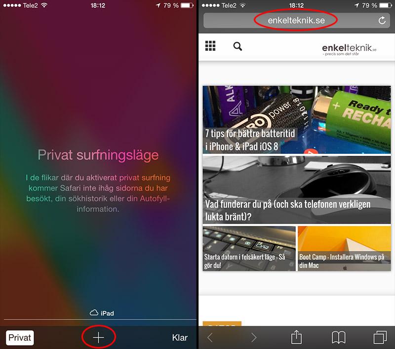 iPhone - Surfa privat 2