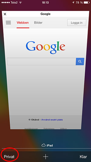 iPhone - Surfa privat 4
