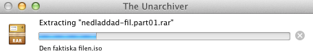Packar upp RAR-fil i Mac OS X med The Unarchiver