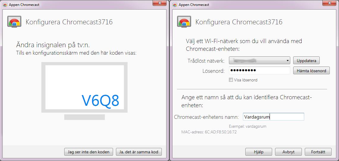 Anslut Chromecast till Wi-Fi-nätverk 2