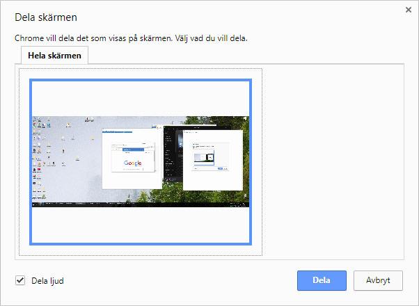 Chromecast - Dela hela skärmen via Chrome