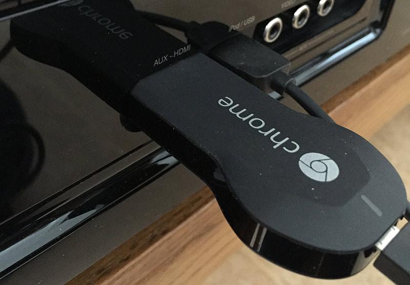 Chromecast - Anslut till TV
