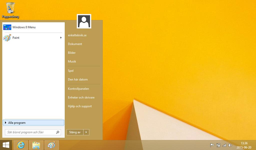 Start8 Start-meny Windows 8.1