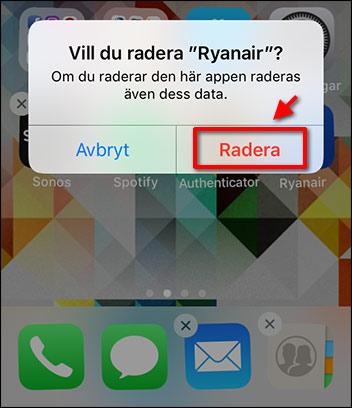 Ta bort app - iPhone - iPad - Radera