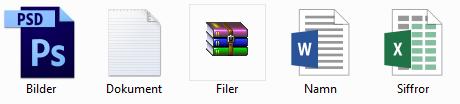 Filer utan synliga filändelser