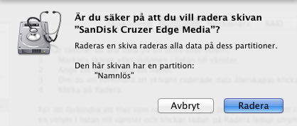 Formatera - Mac OS X - Varning ExFAT