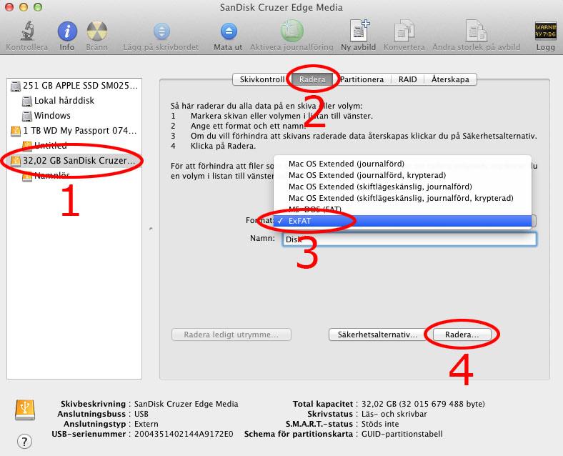 Formatera Hårddisk USB - Skivverktyg Windows Mac
