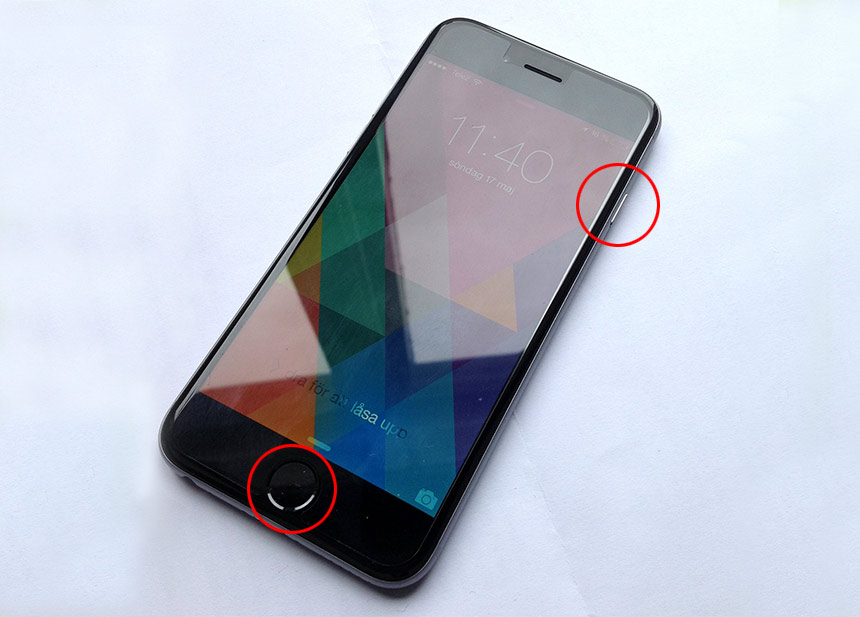 iPhone - Kall omstart - Soft reset - Starta om