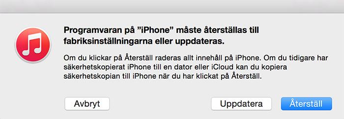 iphone startar inte