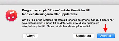 iPhone iPad - iTunes - Återsälla, återställningsläge