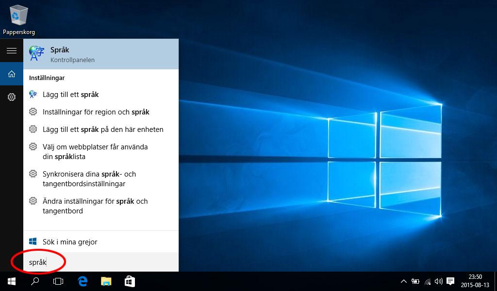 Ändra språk Windows 10 - Språkinställningar 1