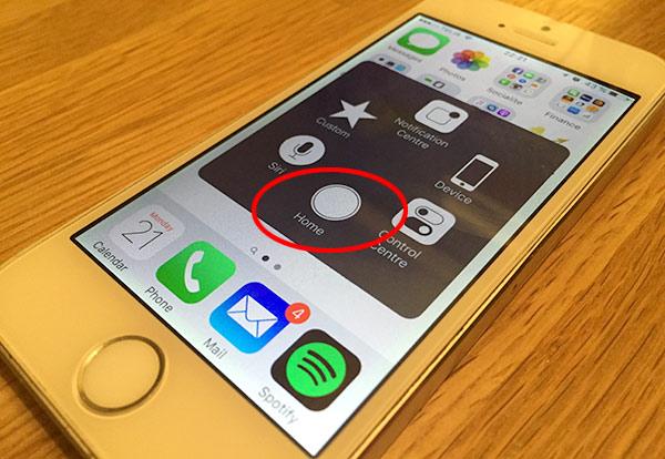 iPhone, iPad - Hemknappen fungerar inte - Extra knapp