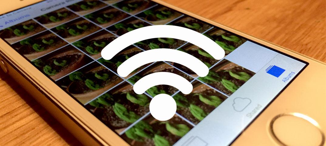 Titelbild - Skicka bilder och filmer trådlöst från iPhone, iPad till dator Wifi