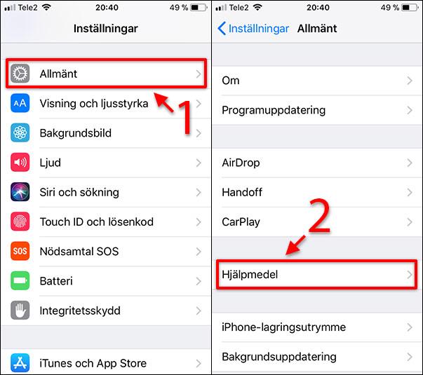 iPhone - Blinka vid SMS - Meddelanden - Notiser - Allmänt - Hjälpmedel