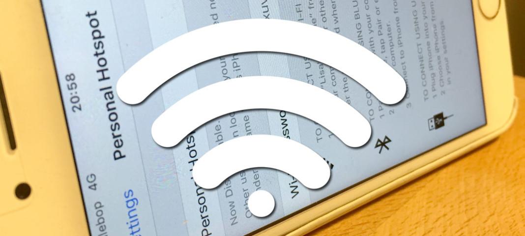 Titelbild - Dela ut Internet via Wi-Fi från din iPhone