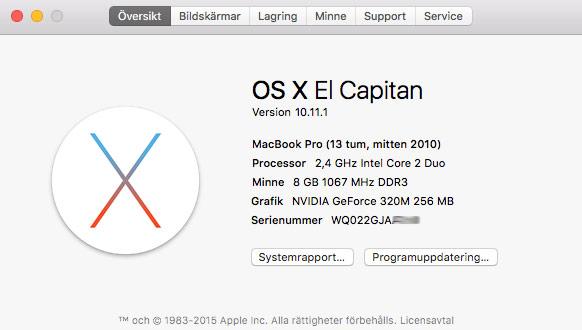 Mac OS X -Vilken version av Mac-dator - Översikt