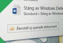 Titelbild - Återskapa Word-dokument som inte sparats