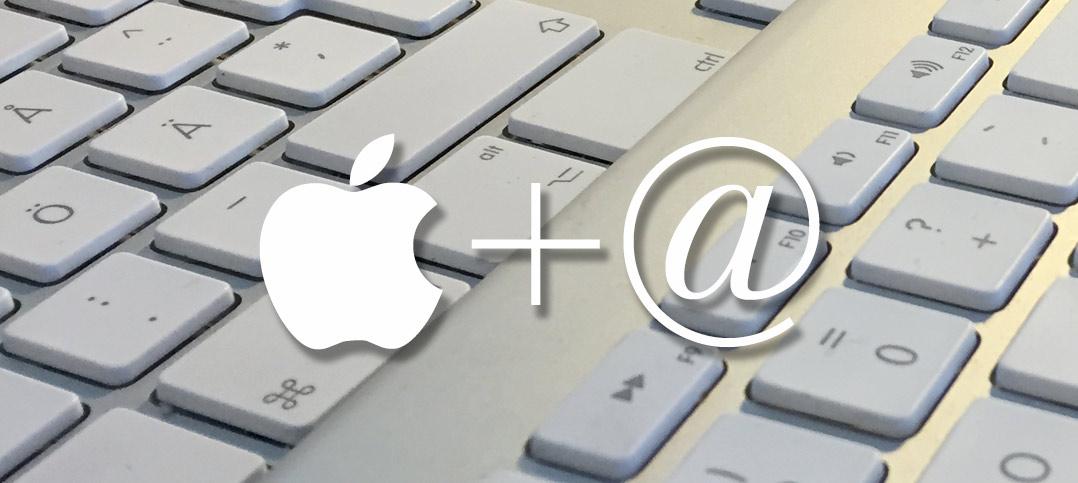 Titelbild - Gör / Skriv snabel-a, pund, dollar, specialtecken på Mac