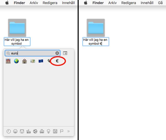 Mac OS X - Lägg till symboler och specialtecken