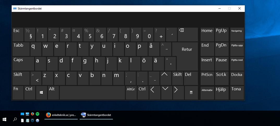 Titelbild - Använd skärmtangentbordet i Windows 10