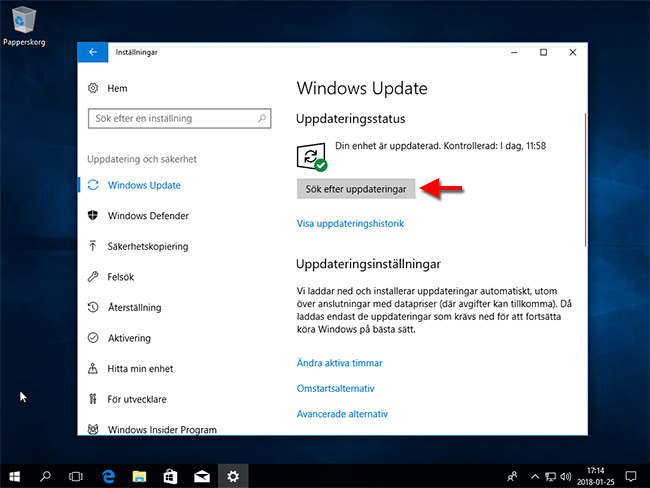 Windows 10 - Installera Windows Update