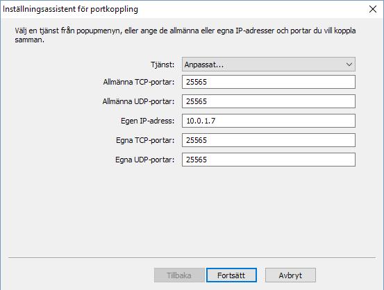 AirPort Extreme - Port 25565 - Öppna port - Minecraft