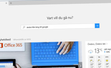 Byt till Google i Microsoft Edge