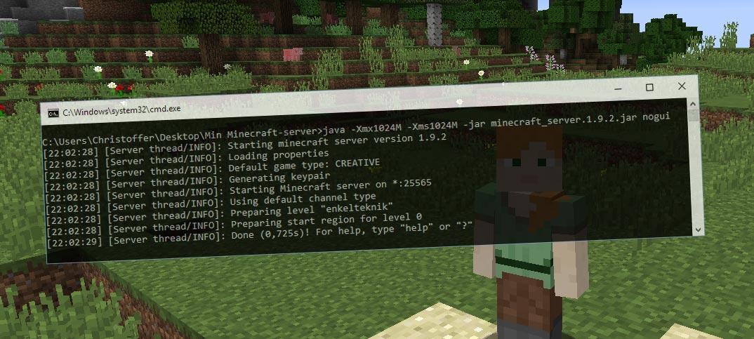 Skapa och starta en egen Minecraft-server