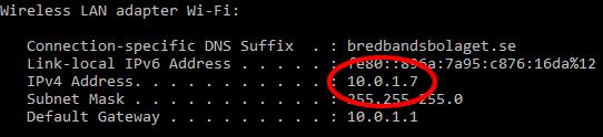 IP-adress - Windows 10 - Minecraft - Ansluta till server
