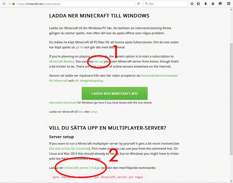 Ladda ner Minecraft - Server-programmet