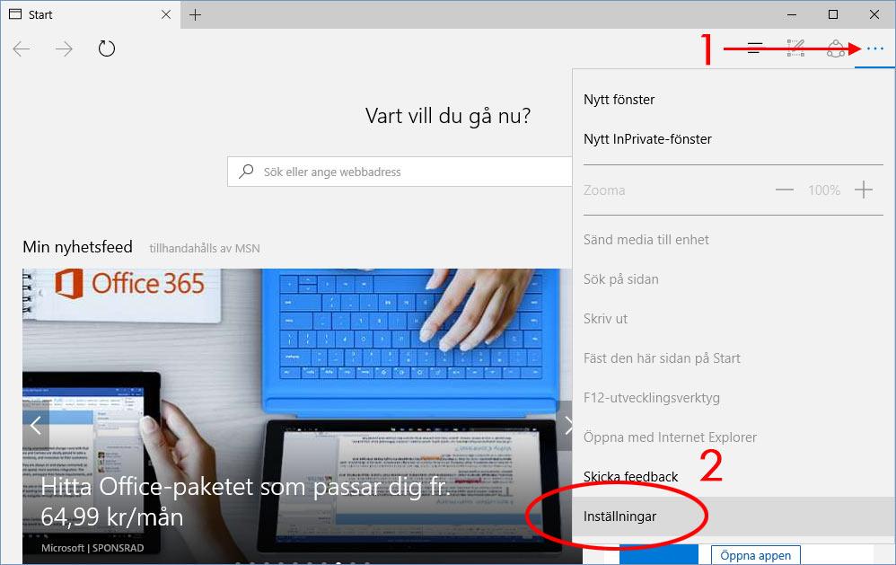 Microsoft Edge - Inställningar