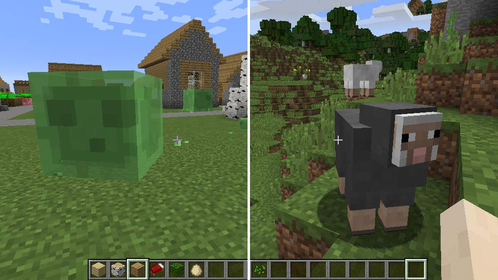 Minecraft - Slime och Får - Varelser i Minecraft