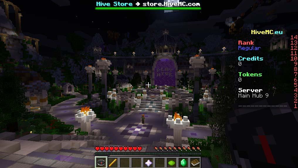 Minecraft - The Hive - Ansluten och i lobbyn