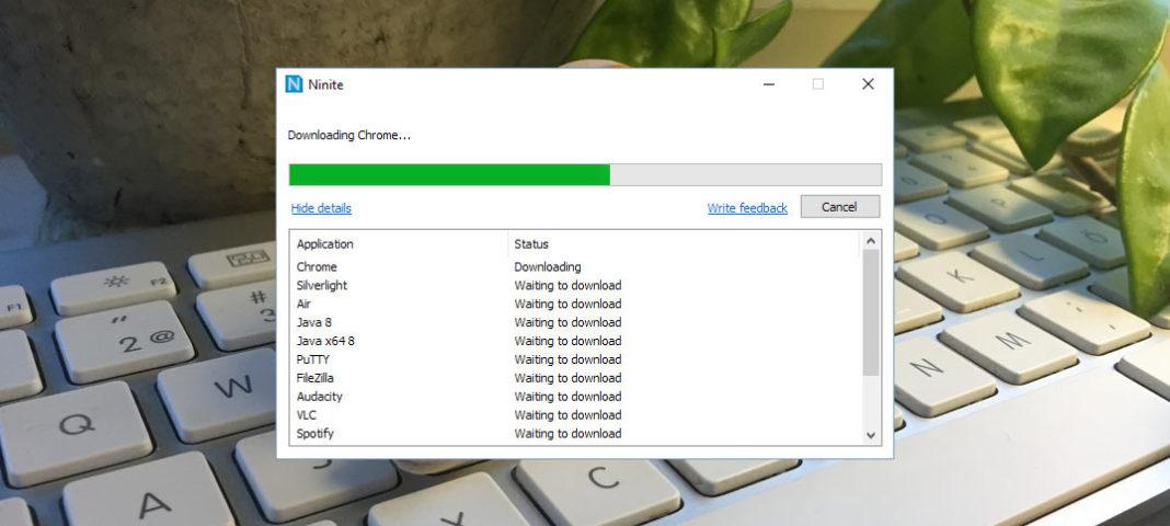 Hämta och installera flera program samtidigt med Ninite