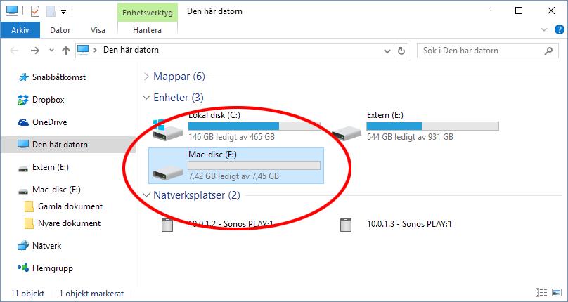 Paragon HFS-plus - Mac hårddisk USB - Syns i Windows